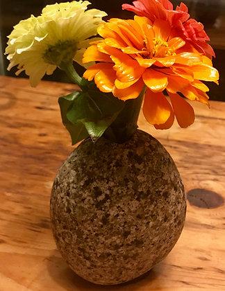 White Granite Bud Vase