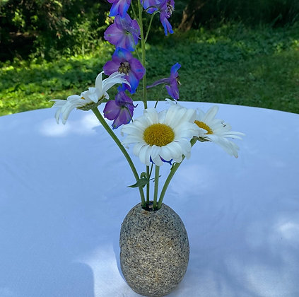 White Granite Posy Vase