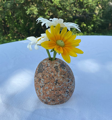 Red Granite Bud Vase