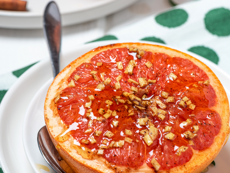 Baked Grapefruit with Honey and Vanilla
