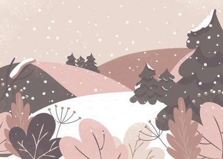 The heavy snow of winter