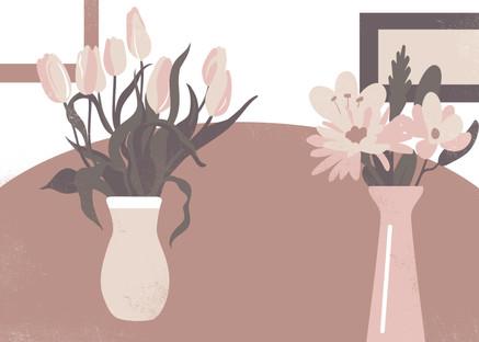Flowerpot on the table