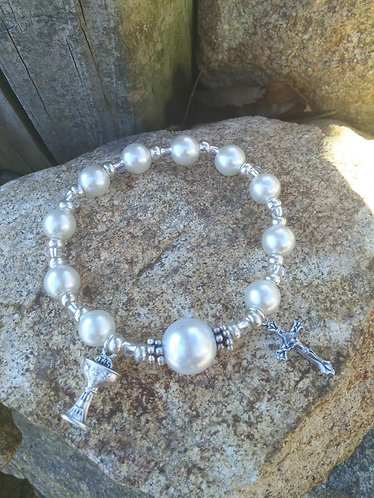 Girls Holy Communion Bracelet