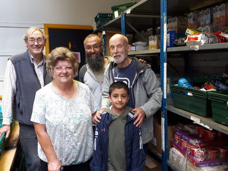 Behind the scenes at the food bank