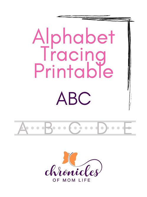 Alphabet Tracing Printable