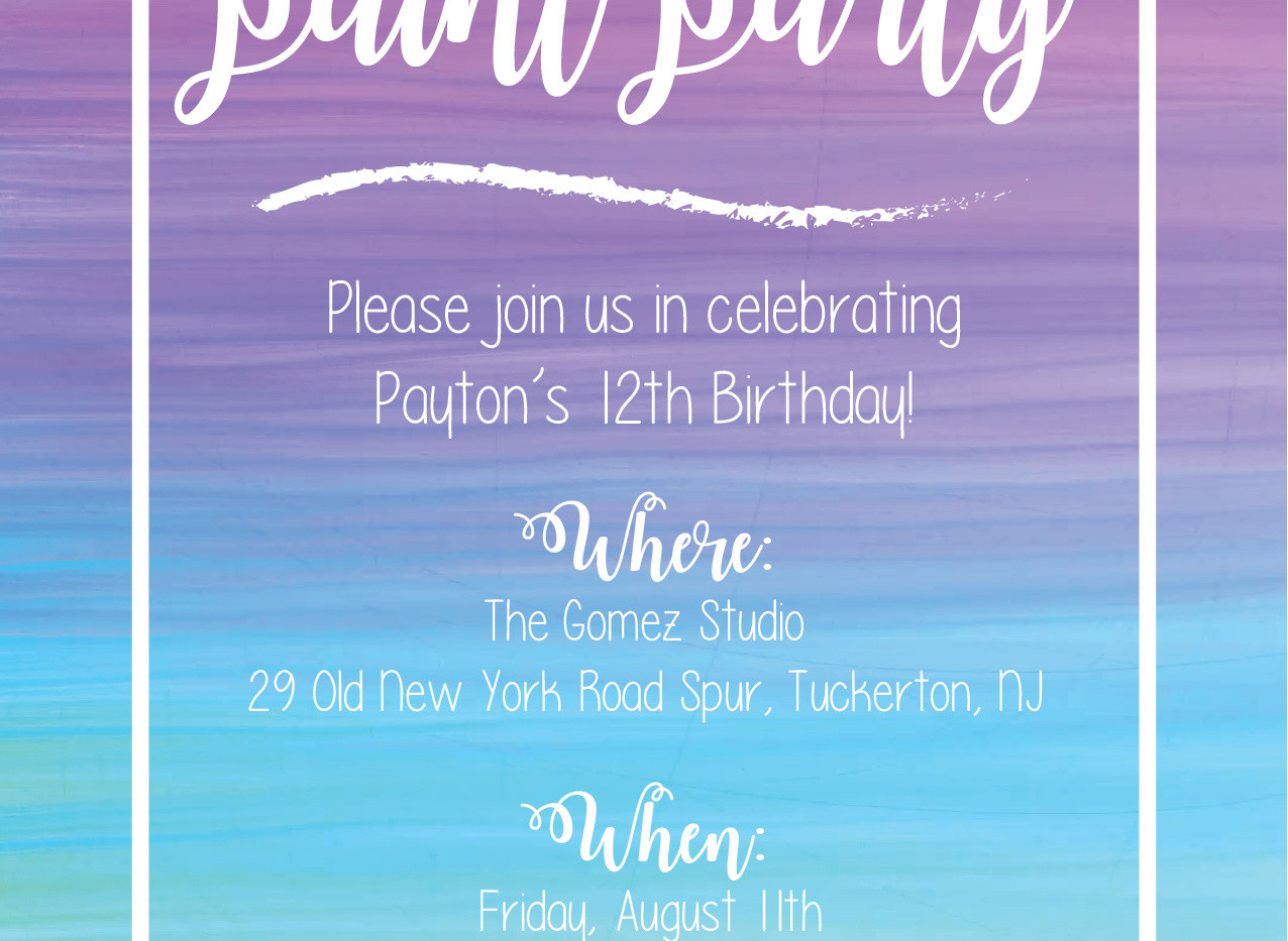 PARTY INVITATION | PRINT