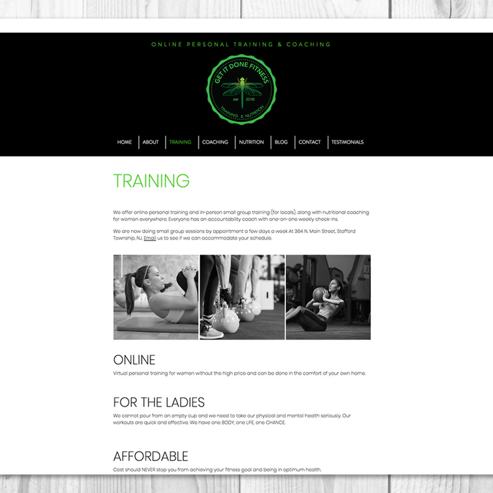 GET IT DONE FITNESS | COMPANY WEBSITE