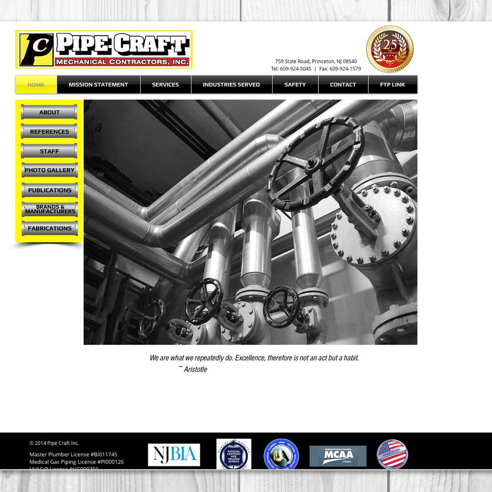 PIPE CRAFT | COMPANY WEBSITE