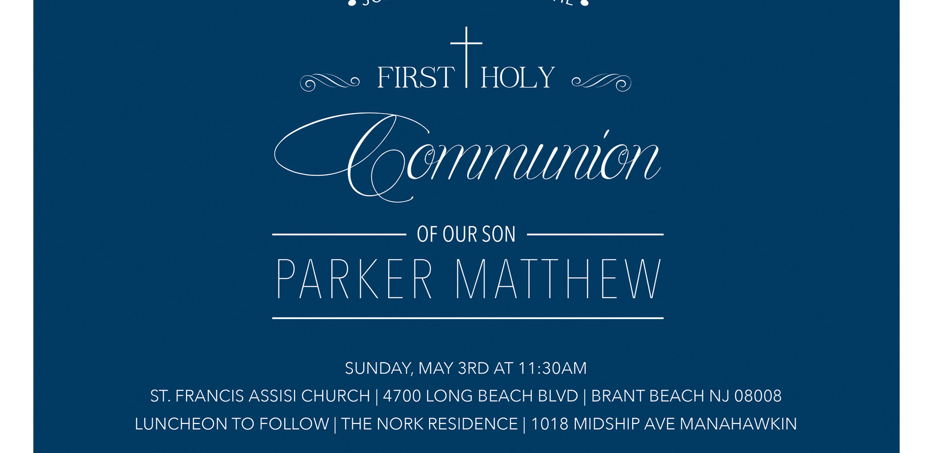 1ST COMMUNION | INVITATION