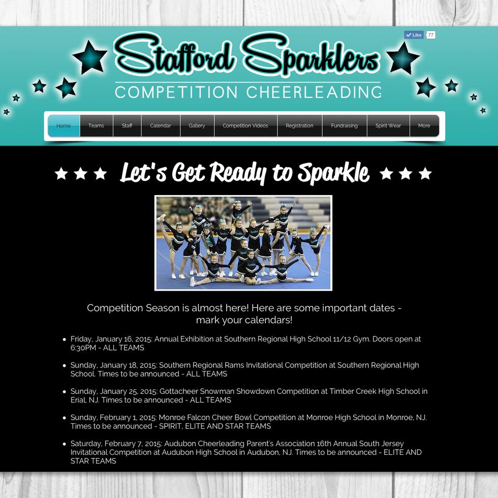 STAFFORD SPARKLERS | ORGANIZATION WEBSITE