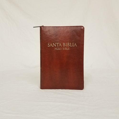 Biblia Bilingue 9 pts Manual Café Ind Cierre