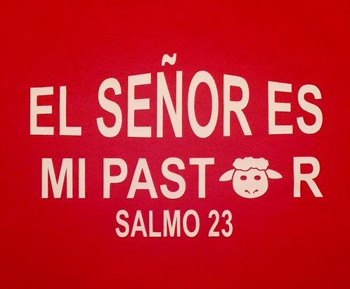 T-shirt El Senor es mi Pastor Niña Rojo con pluma/libreta