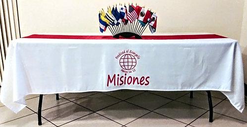 Mantel Misiones Blanco/Rojo Banderas