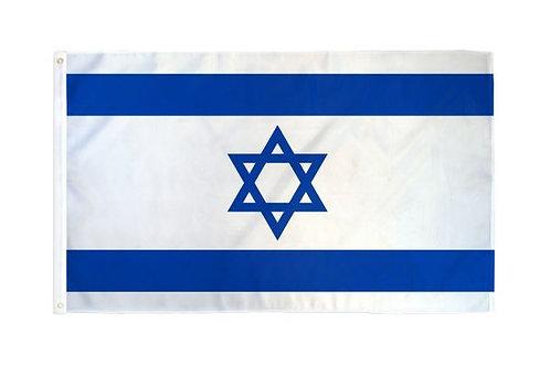Juego Bandera Israel 3x5 pies con Asta 8 pies