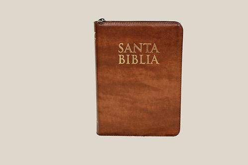 Biblia Let Gigante Café con Dorado Índ Cierre