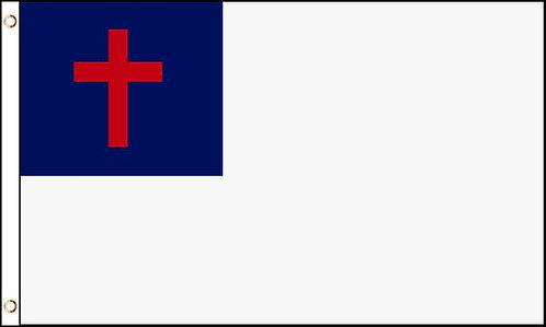 Juego Bandera Cristiana 3x5 pies con Asta 8 pies