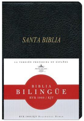 Biblia Bilingüe RVR 1960/KJV Neg Imit Piel Indice 190306