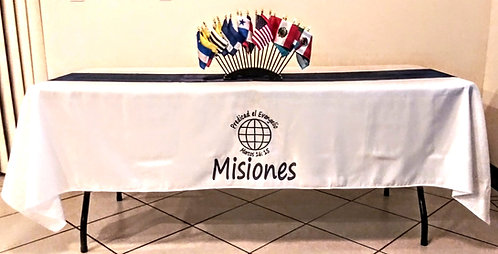 Mantel Misiones Blanco/Azul Marino Banderas