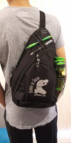 Bolso de Espalda para Hombre, color Negro con Accesorios