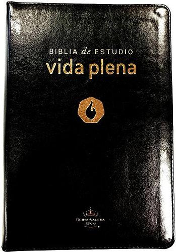 Biblia Vida Plena Estudio Negro Dorado Ind Cierre