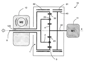 FAAR Industry Patent 1. Device for motorizing vehicle i.e. electric vehicle, has control unit for controlling rotational speeds of electrical motors to use motors at high speeds above predetermined threshold speed during entire operation of vehicle
