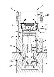FAAR Industry Patent 2.  Internal combustion engine i.e. two-stroke internal combustion engine, has inlet valve including circular shaped lateral wall and bottom provided with hole, where valve is in form of tube closed at its one end