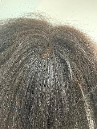 "Brazilian Virgin Hair 16"" Kinky Straight Natural Color Silk Top Closure"