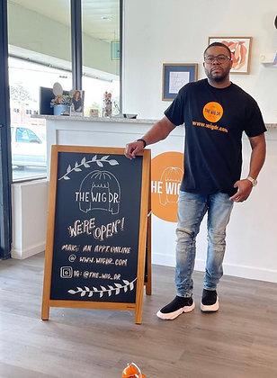 Wig Dr T-Shirt Black with orange logo