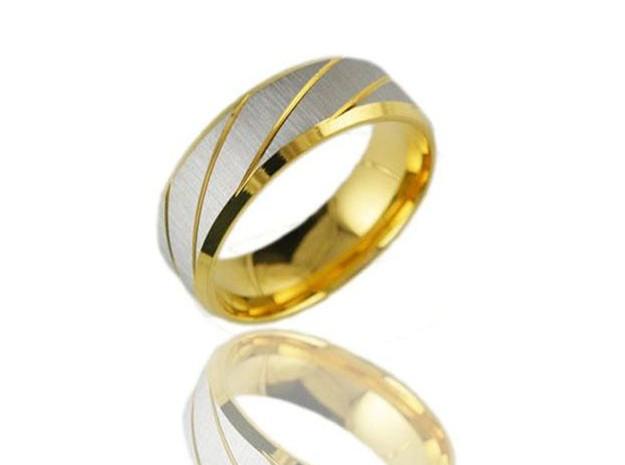 Stainless-Steel-Golden-Ring-For-Men