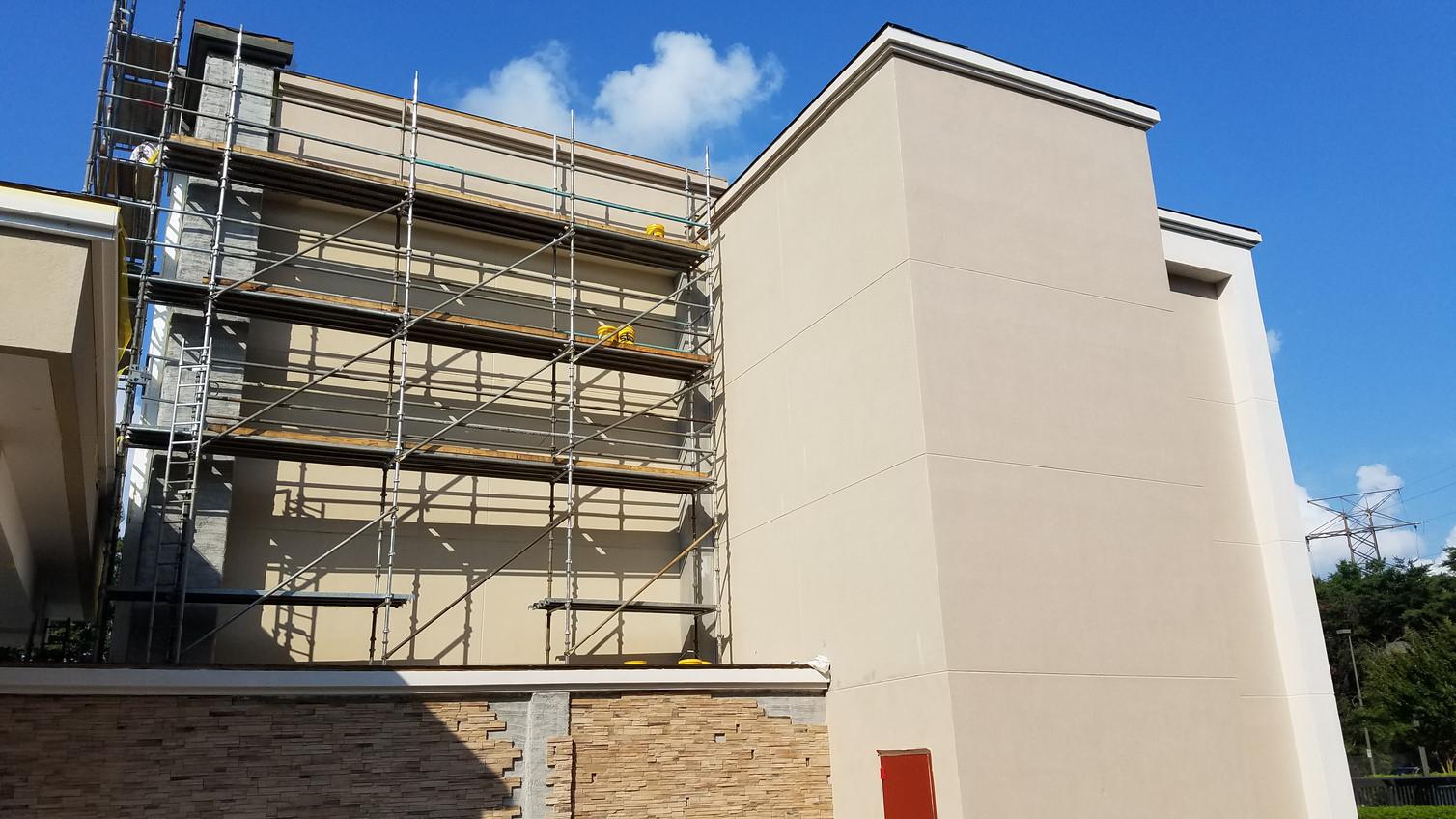 Comfort Inn Exterior Hotel Renovation Conversion During