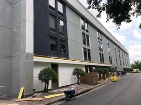 Hampton Inn Exterior Hotel Renovation During
