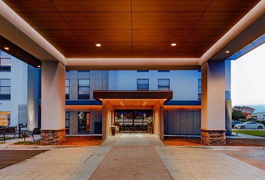 porte cochere renovation hampton hotel renovation project in santee south carolina