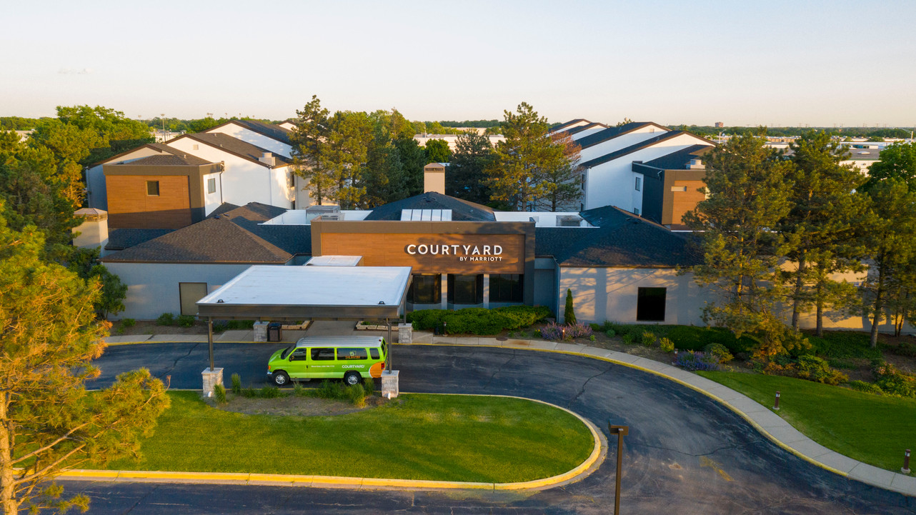 Exterior Hotel Renovation After Courtyard by Marriott