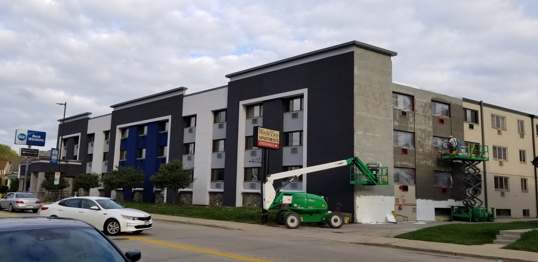 Best Western Exterior Hotel Renovation During