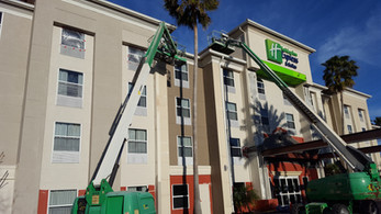 Holiday Inn Exterior Hotel Renovation During