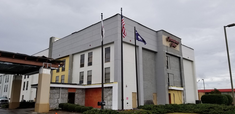 During Hampton Inn Hotel Renovation in Santee, South Carolina