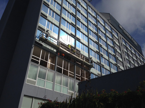 Hotel Window Replacement During