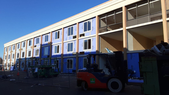 Holiday Inn Exterior Hotel Renovation During