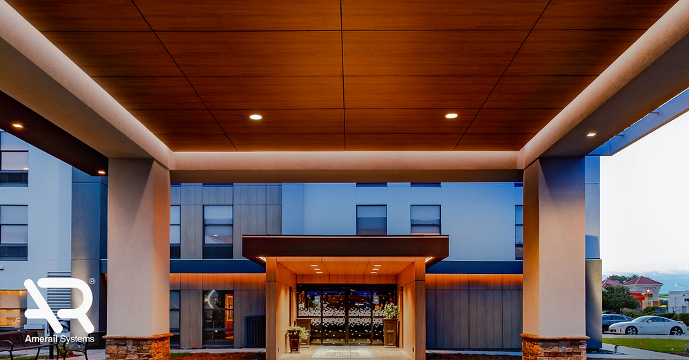 Hotel PIP renovation of porte cochere by hotel renovation company amerail systems