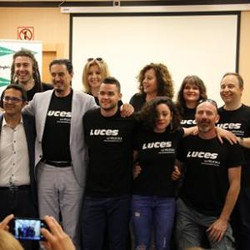 LUCES team at press conference