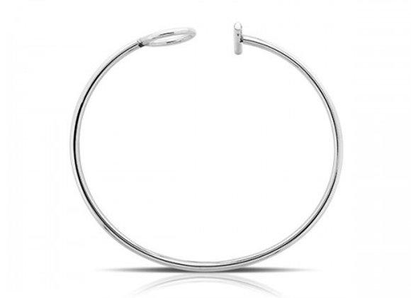 T O silver bracelet