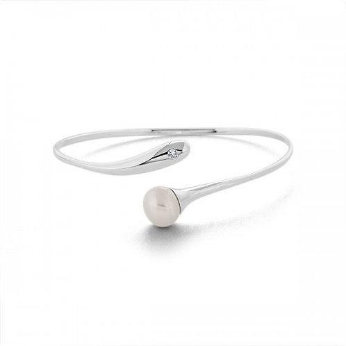 zilveren zoet water parel armband