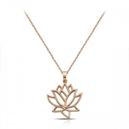 lotus roos-gouden ketting