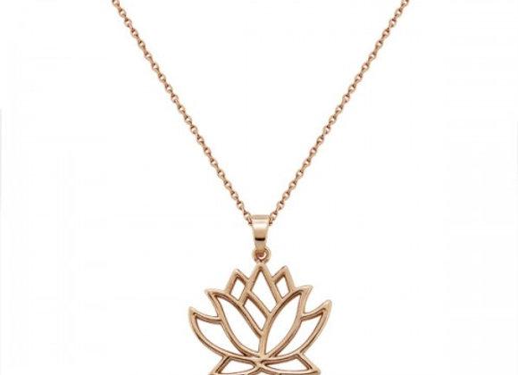 lotus rose gold necklace