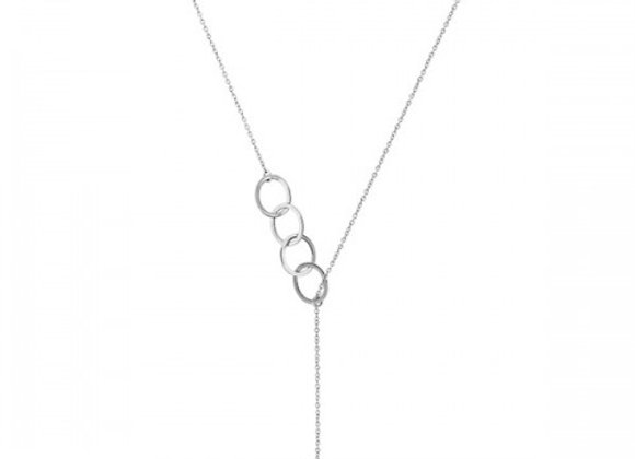links silver necklace
