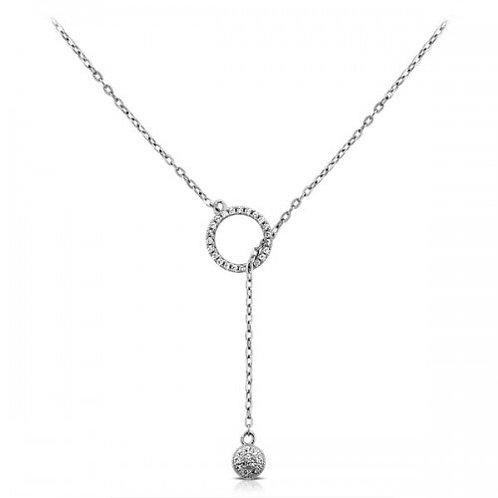 balance zirkoon zilveren halsketting