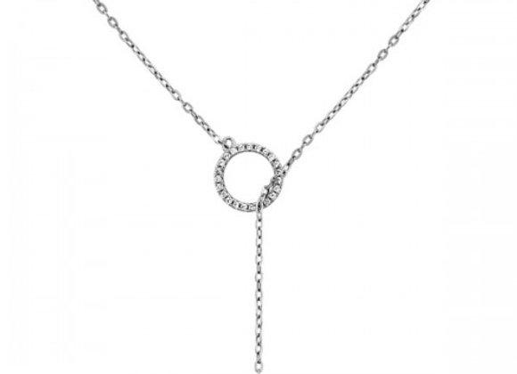 balance zirco silver necklace
