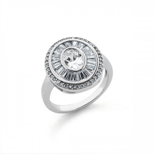 Donna zirkoon zilveren ring
