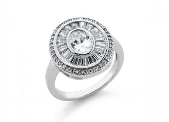 Donna zircon silver ring size 12