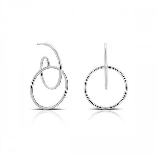 Engaged zilveren oorbellen